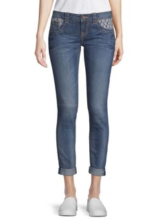 Miss Me Deco Accent Ankle Skinny Jeans