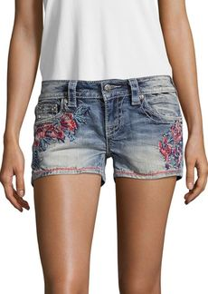 Miss Me Desert Paradise Embroidered Shorts