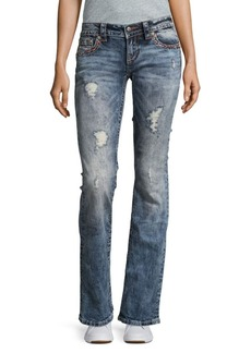 Miss Me Distressed Bootcut Denim Jeans
