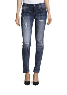 Miss Me Distressed Cotton-Blend Jeans