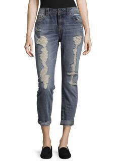 Miss Me Distressed Cotton Boyfriend Jeans