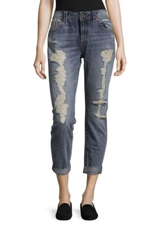 Miss Me Distressed Cotton Boyfriend Jeans