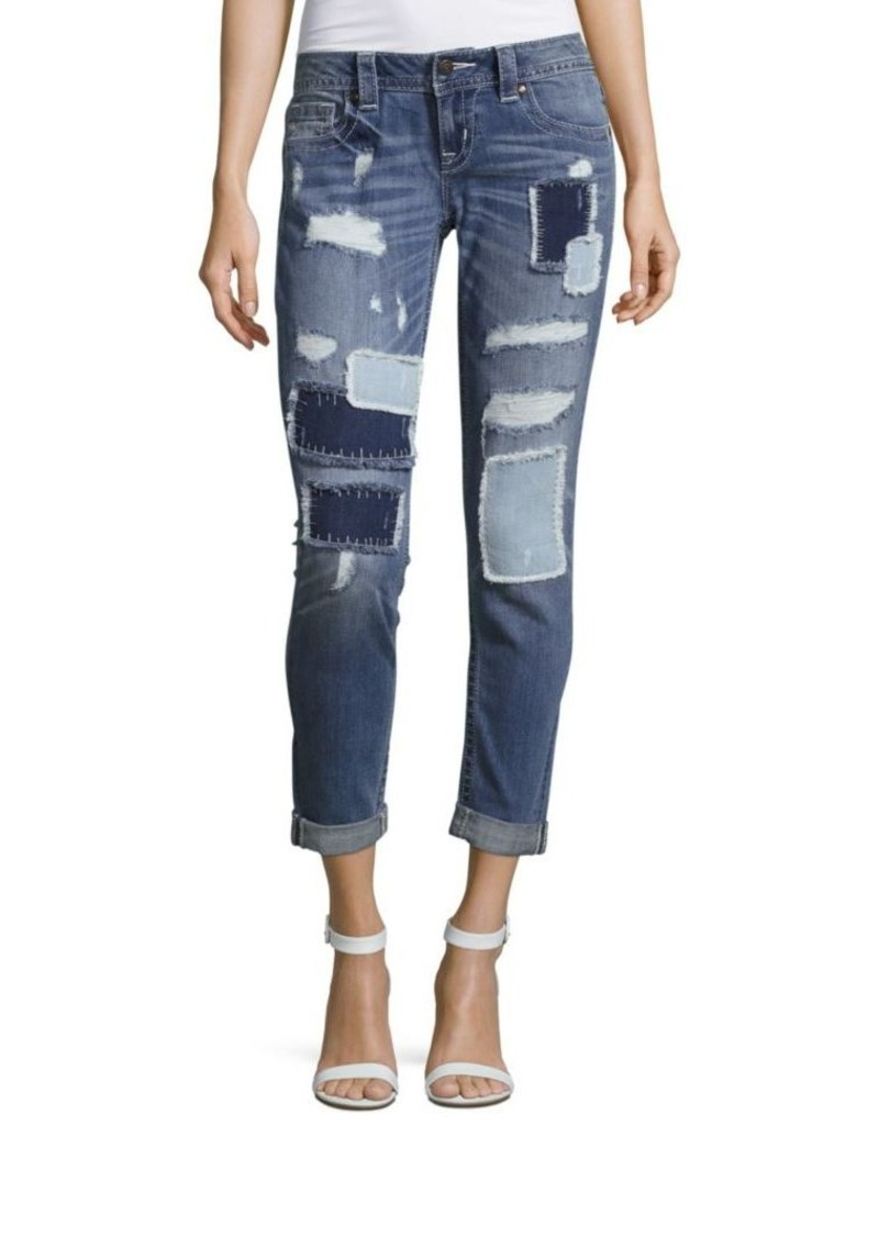 0700e208c2 SALE! Miss Me Miss Me Distressed Patchwork Jeans