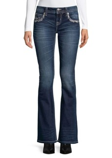 Miss Me Embroidered Boot Cut Jeans