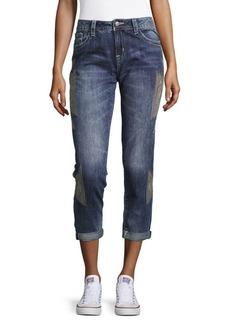 Miss Me Embroidered Boyfriend Cotton Jeans