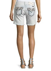 Miss Me Embroidered Cutoff Denim Shorts