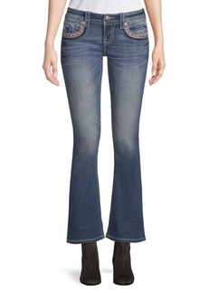 Miss Me Embroidery Kick-Flare Jeans