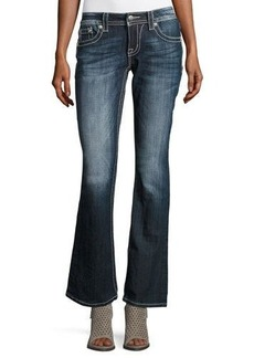 Miss Me Faded Boot-Cut  Embellished-Pocket Jeans