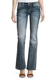 Miss Me Faded Boot-Cut Embroidered Denim Jeans