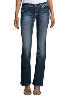 Miss Me Faded Skinny Boot-Cut Denim Jeans