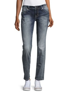Miss Me Five-Pocket Straight-Leg Jeans