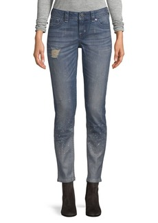 Fleck Mid-Rise Skinny Fit Jeans