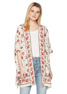 Miss Me Junior's Floral Printed Kimono  S