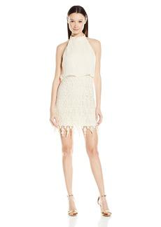 Miss Me Junior's Halter Lace Dress