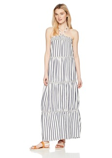 Miss Me Junior's Halter Striped Maxi Dress  L