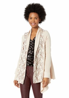 Miss Me Junior's Knit Cardigan with Lace  S