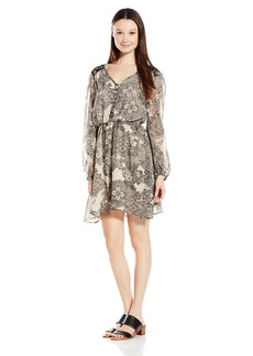 Miss Me Junior's Lace Printed Dress