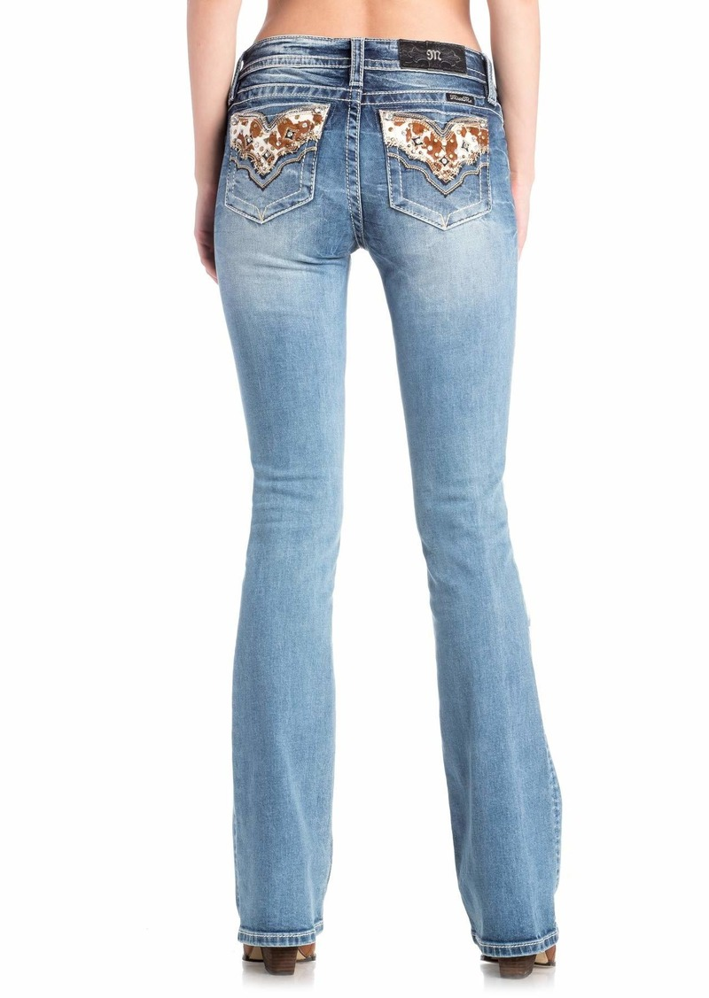 Miss Me Junior's Mid-Rise Boot Cut Jeans