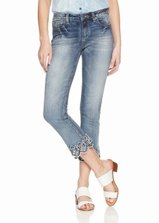 Miss Me Junior's Mid-Rise Cropped Boot Cut Jeans