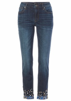 Miss Me Junior's Mid-Rise Cuffed Ankle Skinny Jeans