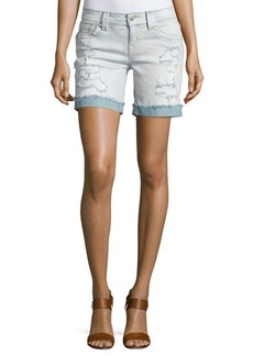 Miss Me Mid-Rise Distressed Denim Shorts