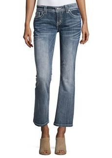 Miss Me Relaxed Boot-Cut Jeans W/Embroidery