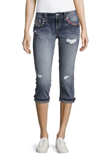 Miss Me Siganature Fit Cuffed Capri Jeans