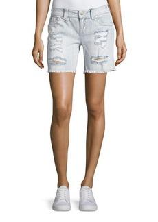 Miss Me Signature Distressed Denim Shorts