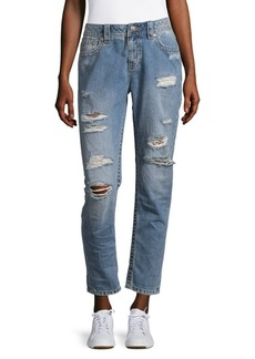 Miss Me Simple Five-Pocket Cotton Ankle Jeans