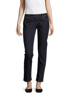 Miss Me Simple Tonal Stitched Five-Pocket Jeans