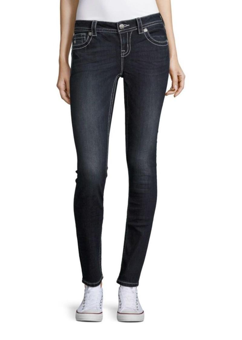 miss me miss me simple tonal stitched jeans denim