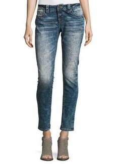 Miss Me Skinny Acid-Wash Skinny Jeans