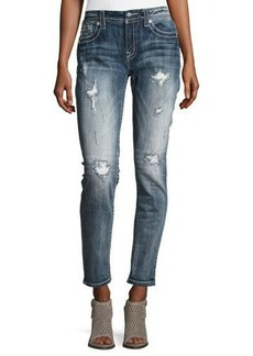 Miss Me Skinny Embroidered Denim Jeans