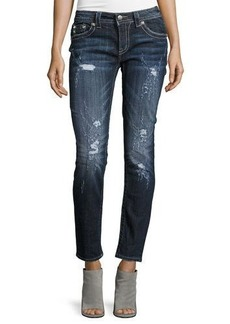 Miss Me Skinny Mid-Rise Jeweled Jeans
