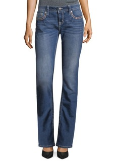 Slim-Fit Mid-Rise Bootcut Jeans