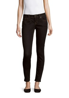 Miss Me Solid Mid-Rise Skinny-Fit Jeans