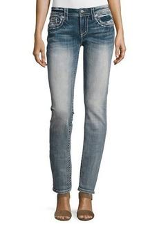 Miss Me Straight-Leg Embellished Pocket Jeans