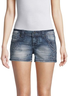 Miss Me Swirl Denim Shorts