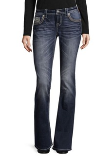 Miss Me Thick Border Bootcut Jeans