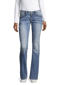 Miss Me Thick Stitch Relaxed Jeans