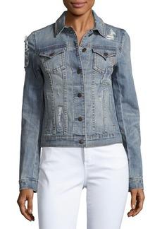 Miss Me Vintage Distressed Denim Jacket
