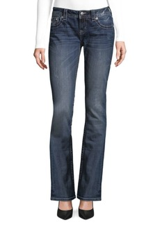 Miss Me Whiskered Bootcut Jeans