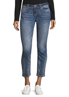 Miss Me Whiskered Skinny Ankle Jeans