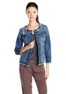 Miss Me Women's 3/4 Sleeve Denim Jacket MK