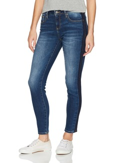 Miss Me Women's Basic Skinny Denim Jean with Tuxedo Stripe Detail