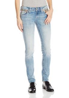 Miss Me Women's Beaded Skinny Denim Jean Light