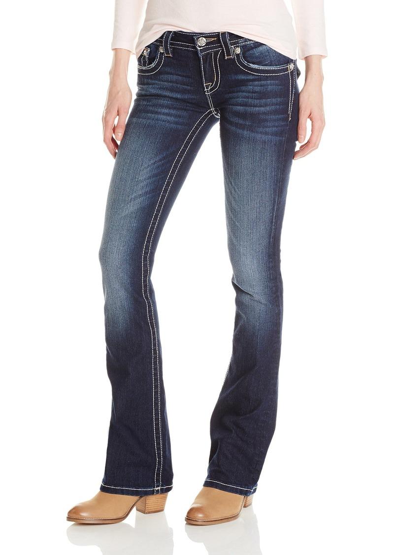 Miss Me Women's Cross Flap Back Pocket Bootcut Jean