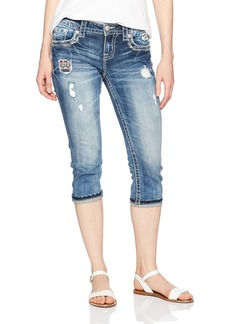 Miss Me Women's Distressed Denim Capri