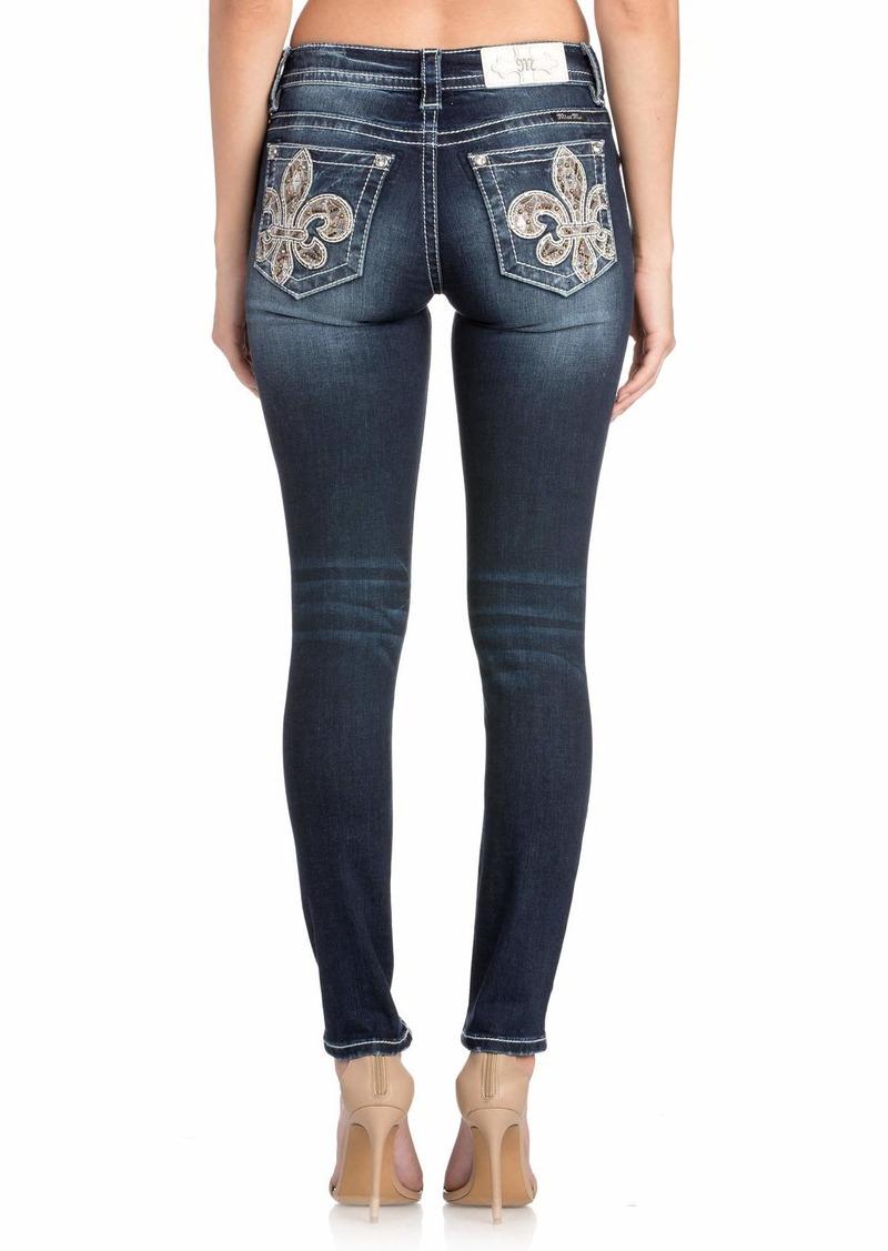 Miss Me Women's Divine Fleur Ankle Skinny Jeans