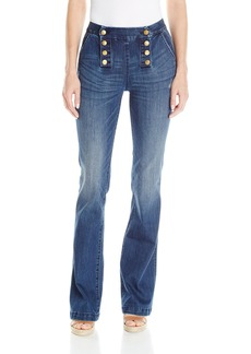 Miss Me Women's Double Down High-Rise Wide Leg Jeans